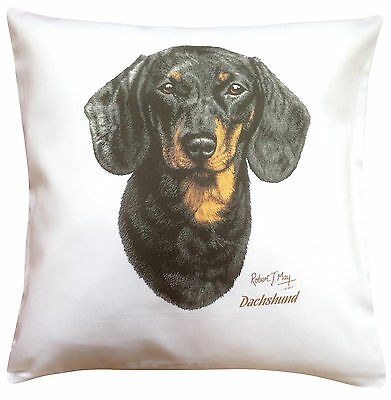 Perfect Gift Dachshund Back /& Tan RM Breed of Dog Themed Cotton Cushion Cover