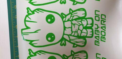 Groot Baby on board vinyl sticker car