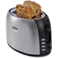 Oster Tsstjc5bbk 2-slice Toaster, Brushed Stainless Steel , New, Free Shipping on sale