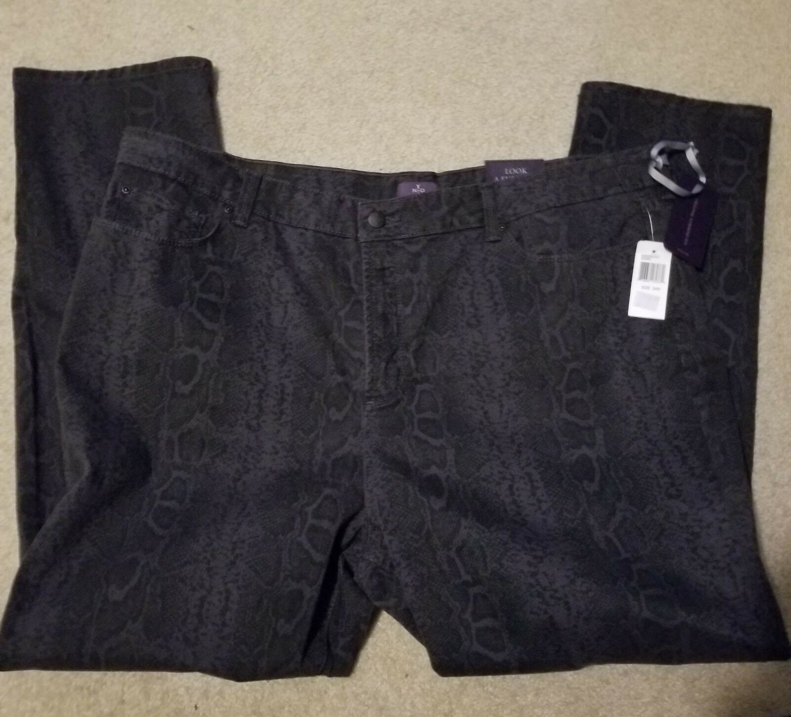 NYDJ Not Your Daughters Jeans Dark Ash Skinny Size 24W