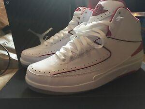 best cheap d4e26 c11f7 Image is loading Nike-Air-Jordan-2-II-Retro-Chicago-Bulls-