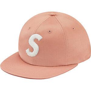 db5157d585c Supreme FW16 Chenille S Logo 6-Panel Cap Hat - Coral - Brand New