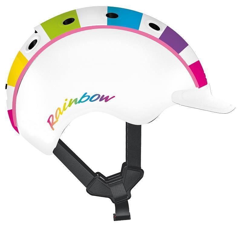 Casco - Mini 2 - Farbe  Regenbogen - Größe  S (52 - 56 cm) - Kinderfahrradhelm