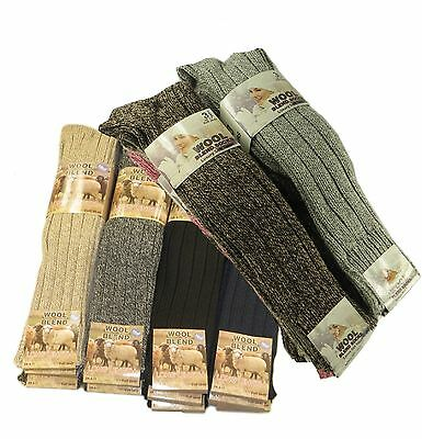 Romantisch Mens Women Ladies Long Thick Chunky Wool Work Hiking Boot Socks Warm