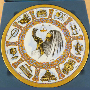 """TRADITIONS PLATE 12"""" diameter NEW NEVER SOLD by LASZLO ISPANKY made W. Germany"""