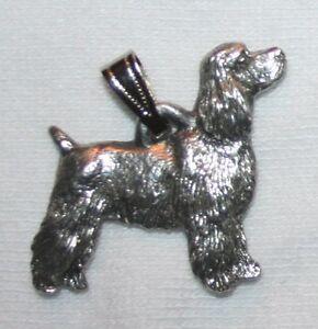 Cocker Spaniel Show Dog Harris Fine Pewter Pendant USA Made