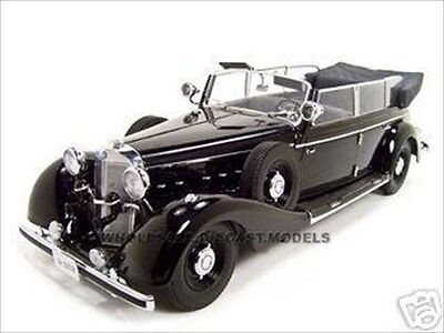 1938 MERCEDES 770K PARADE CAR PULLMAN BLACK 1/18 BY SIGNATURE MODELS 18135