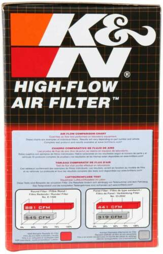 "3-1//2/""OD KN Univ 4/""H RU-1700 K/&N Universal Rubber Air Filter 2-1//4/""20 DEG FLG"