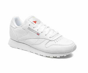 2e5a1c8cef8658 Details about REEBOK CLASSIC LEATHER JUNIOR - WHITE - 50151 - JUNIOR WOMENS  TRAINERS - NEW