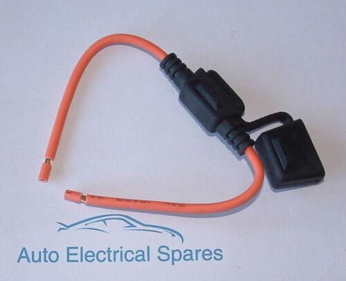 CLASSIC 12v 30 amp STANDARD ATO blade fuse holder cover /& leads KIT CAR