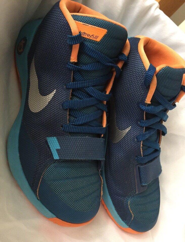 Mens Nike KD Trey 5 III Basketball Shoes Silver Size 8.5 Blue Orange Silver Shoes 749378-404 ec6734