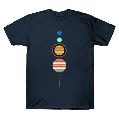 Système Solaire Espace astronomie planètes T Shirt Cool Men/'s Cotton Shirts Tee Top