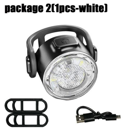USB Wiederaufladbare 12LED Fahrrad Licht Vorne Hinten Rücklicht Set Fahrradlampe