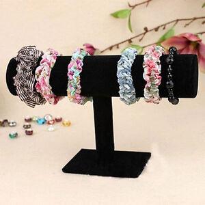HOT-Velvet-T-Bar-Jewelry-Rack-Bracelet-Stand-Organizer-Holder-Display-kp