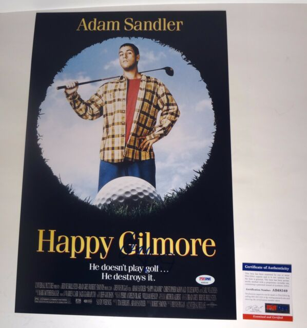 ADAM SANDLER SIGNED AUTOGRAPH HAPPY GILMORE MOVIE POSTER PSA/DNA COA