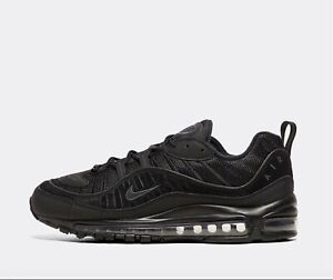 Nike-Air-Max-98-034-noir-anthracite-034-Men-039-s-Trainers-Limited-Stock-Toutes-Tailles