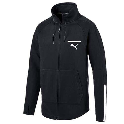 PUMA EVO T7 Uomo Zip Cotone Nera Giacca tuta maglione felpa 573350 01 M12
