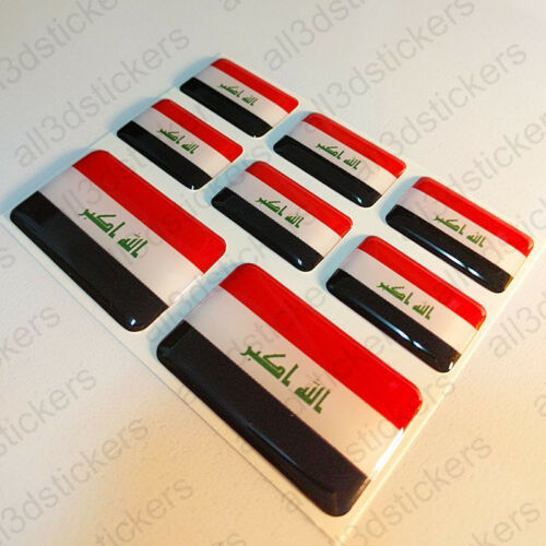 Sticker Iraq Resin Domed Stickers Iraq Flag 3D Vinyl Adhesive Decal Car