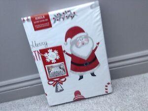 Belle Neuf Enfants Joyeux Noël Santa Renne Simple Parure De Lit Ensemble De Lit Literie De Noël-afficher Le Titre D'origine
