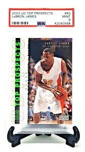 2003-Upper-Deck-RC-High-School-LEBRON-JAMES-Rookie-Basketball-Card-PSA-9-MINT