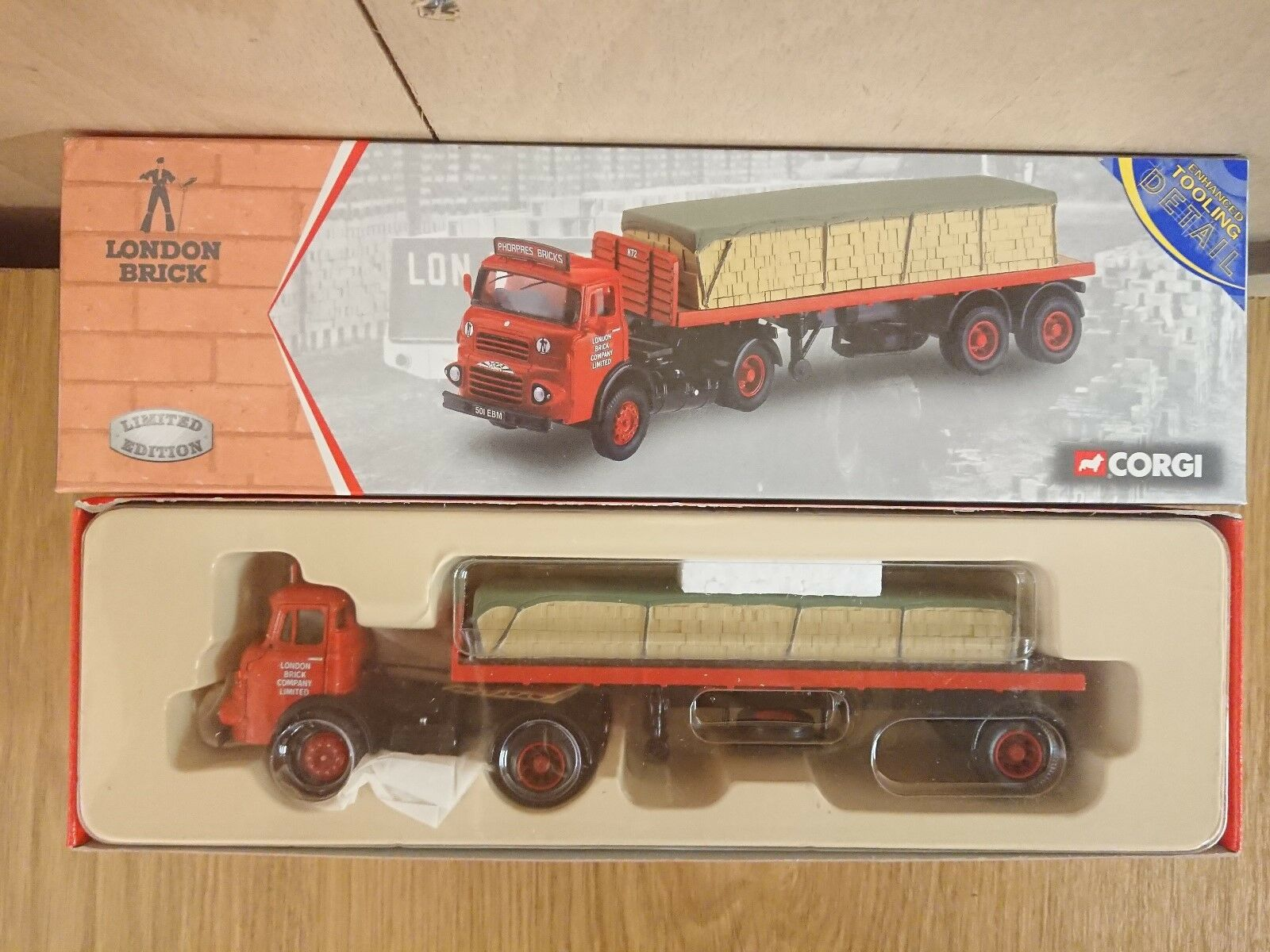 Corgi 23801 London LADRILLO Albion Cacique Semi Remolque Ltd Ed. 0003 de 5000