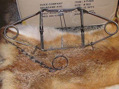 1 Duke 160 Conibear Trap Body Grip Skunk Groundhog Raccoon Survival Trap Fisher