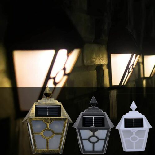 LED SOLAR POWERED WALL LANTERNS WALL SUN LIGHTS LAMP OUTDOOR GARDEN PATIO DOOR