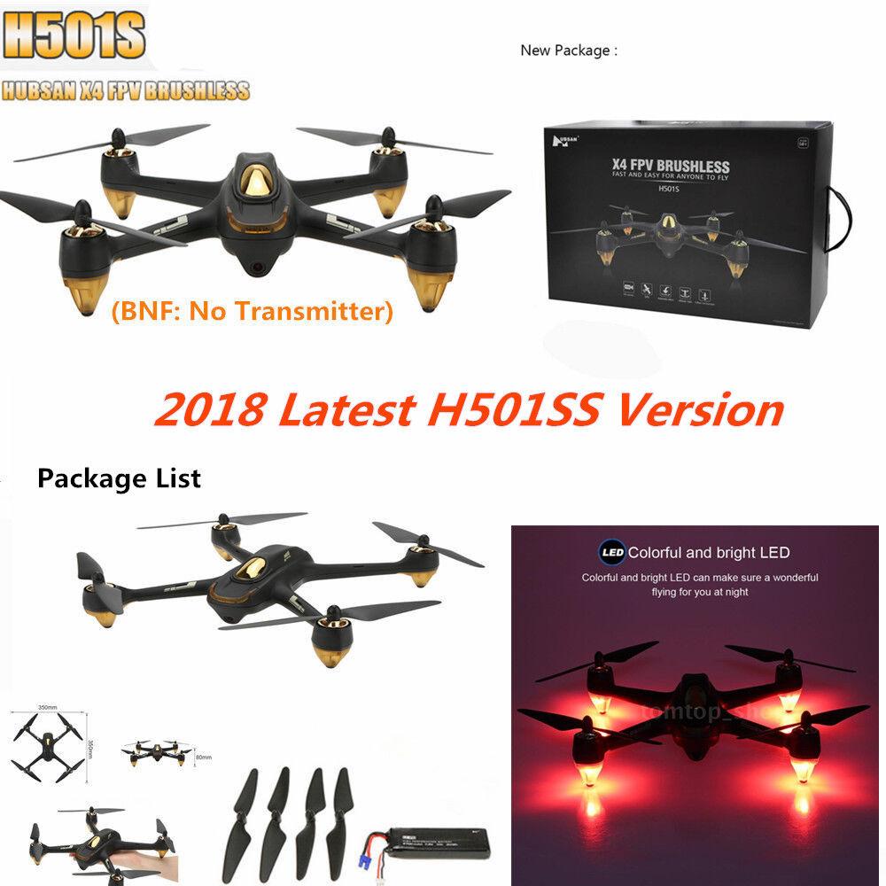 Hubsan H501S S X4 vista en primera persona sin escobillas Drone 1080P GPS RC Quadcopter BNF, no remoto