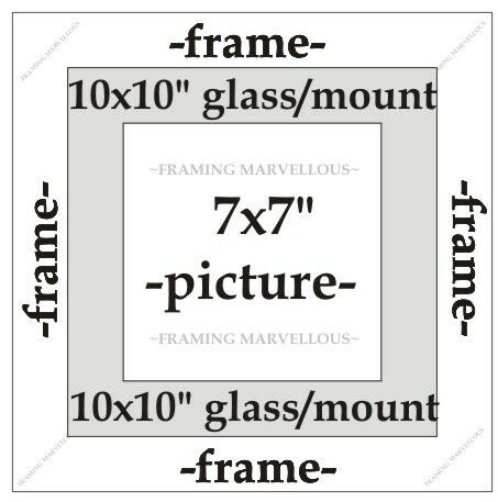 Choose size Metallic Champagne Effect Photo Picture Frame with White Mount