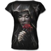 Size 12 Spiral Direct Rose Prayer Gothic Top Medium/M/Maiden/Black/Women's/NEW
