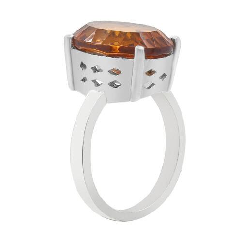 Padparadscha Saphir Forme Ovale Argent Sterling 925 Bague Bijoux DGR1089/_E
