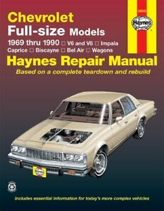 repair manual haynes 24045 fits 69 90 chevrolet caprice rh ebay com 95 Chevy Caprice Stock Headlight Switch 95 Chevy Caprice