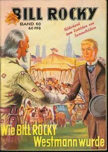 Bill-Rocky-Nr-60-von-1951-mit-allen-25-Sammelbildern-TOP-Z1-ROMANHEFT-SELTEN