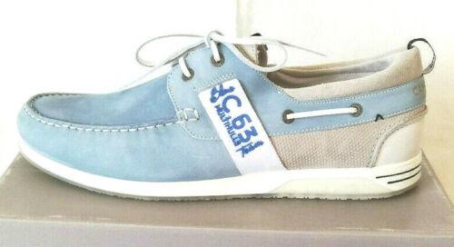 Nuevo camp david cuero schnürboots Boots cortos semi zapato schnürschuh talla 44