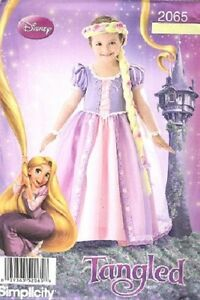 Image is loading Simplicity-2065-Girls-Disney-TANGLED-Rapunzel-Costume- pattern- & Simplicity 2065 Girls Disney TANGLED Rapunzel Costume pattern 3-8 | eBay