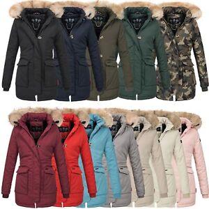 Damen Winterjacke Winter Jacke Mantel Kapuze Warm Gefüttert