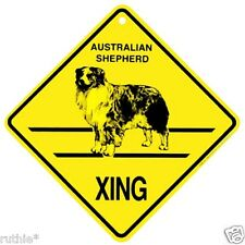 Australian Shepherd Dog Crossing Xing Sign New Made in USA