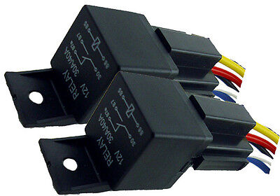 2pk 12V 40A SPDT BOSCH STYLE RELAYS & 5-WIRE SOCKETS 40 AMP AUTO HID RELAY