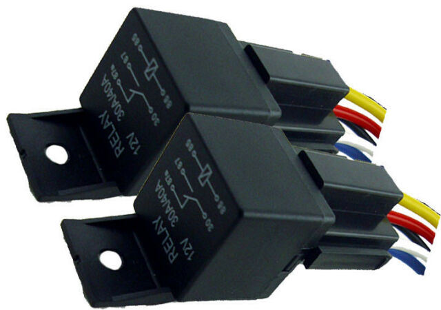 2pk 12V 40A SPDT BOSCH STYLE RELAYS /& 5-WIRE SOCKETS 40 AMP AUTO RELAY