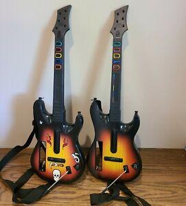 Pair Guitar Hero Controller Nintendo Wii RedOctane Wireless Sunburst 95455.805