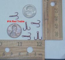 125-2//0 BOX OF BRONZE TREBLE FISHING HOOKS SIZE 2//0 36 PER BOX