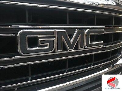 GMC Emblem Overlay Decal CARBON BLACK Front /& RearPRECUT SET