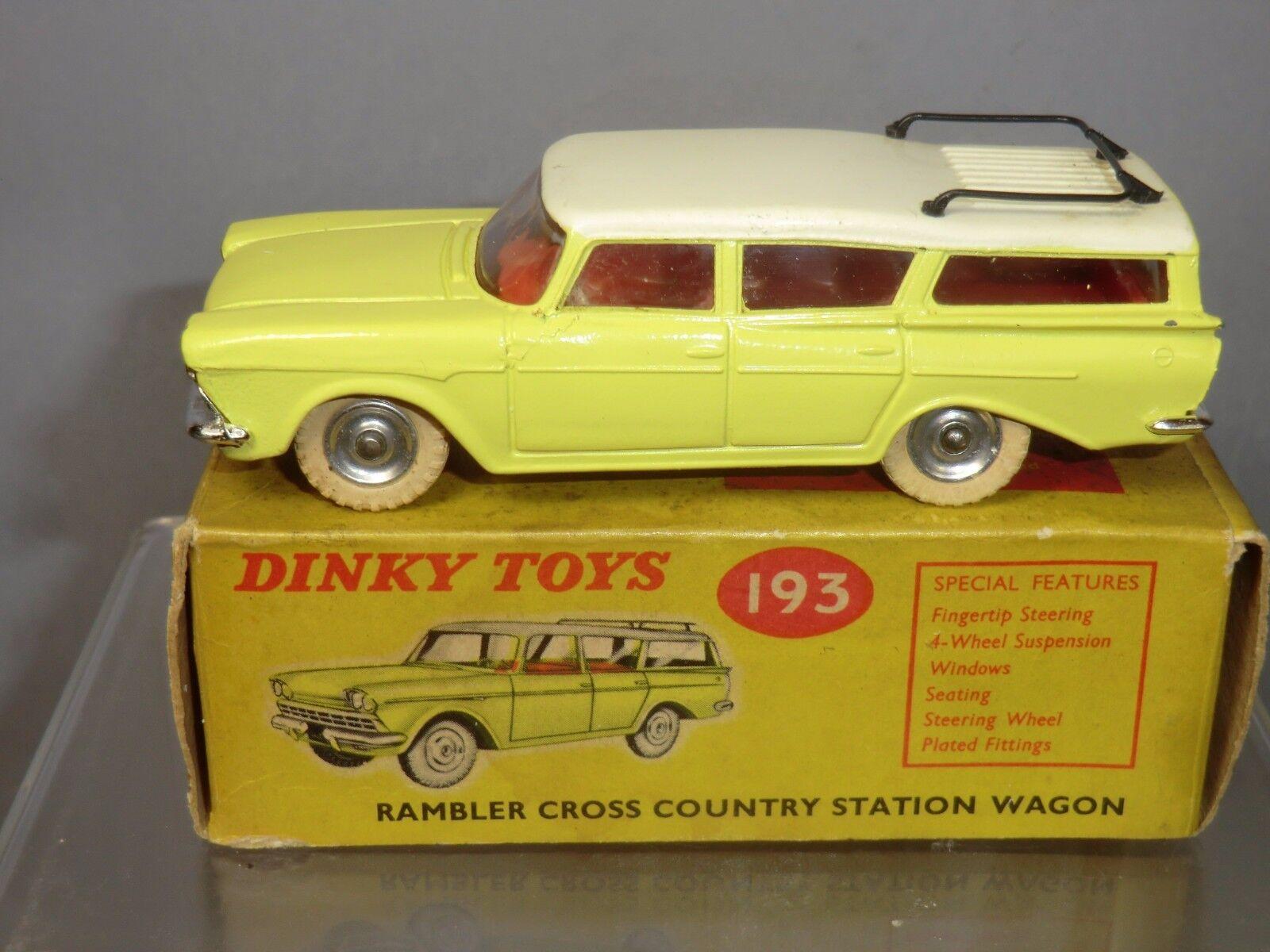 DINKY TOYS modèle No.193 Rambler Cross Country Station Wagon VN En parfait état, dans sa boîte | France