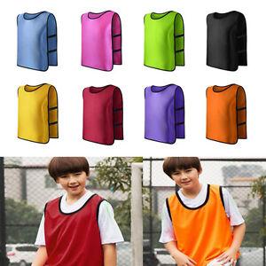Kid-Children-Team-Sports-Football-Soccer-Training-Train-Pinnies-Jerseys-Bib-Vest