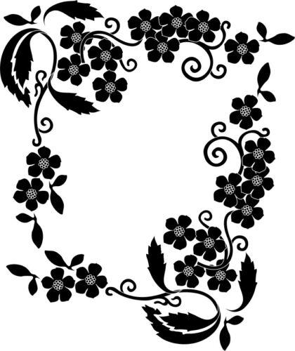 2St Wandtattoo Pflanze 16 mit Blume oracal MATT Wohnzimmer Wandaufkleber Ranke