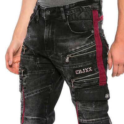 Neu Cipo /& Baxx UTAH Herren Jeans Straight Cut Denim CD-293 alle Gr