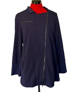 eileen fisher jacket asymmetrical zip organic cotton moto