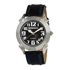 Breed Strauss 1302 Men's Automatic Classic Dress Watch Leather Strap NEW