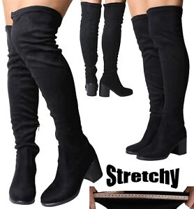 Over The Knee Boots With Wide Calf