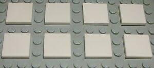 Lego-Fliese-Kachel-2x2-Weiss-8-Stueck-586